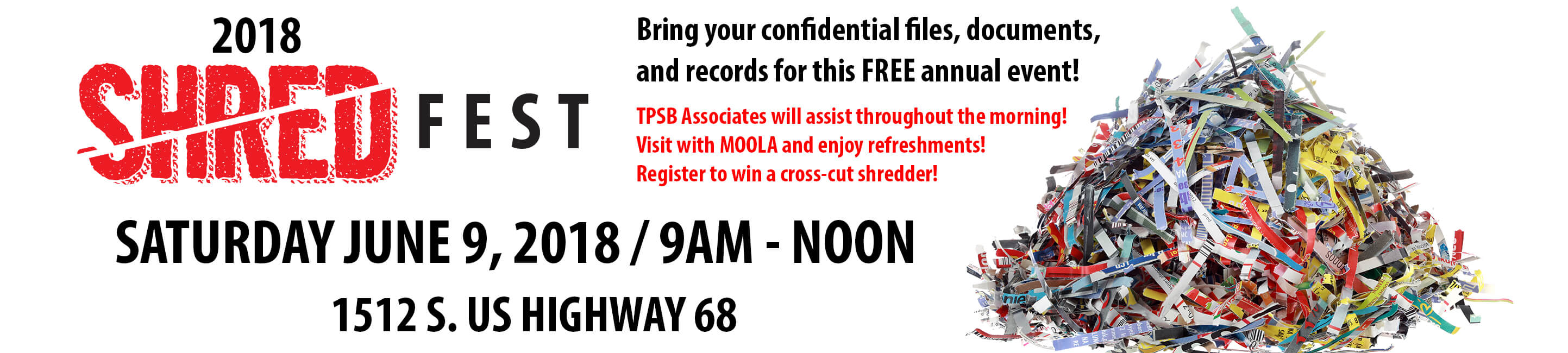 The peoples savings bank learn 2018 shred fest june 9 2018 9am noon 1512 s us highway 1betcityfo Choice Image