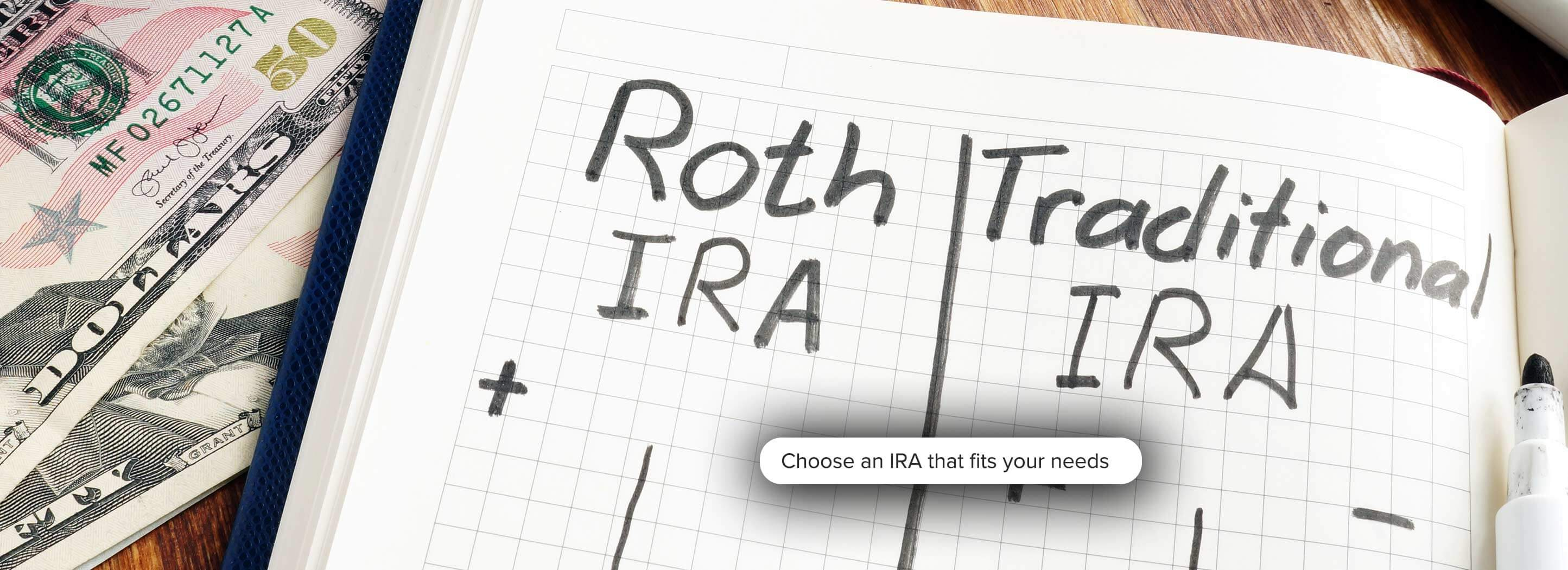 Choose an IRA that fits your needs