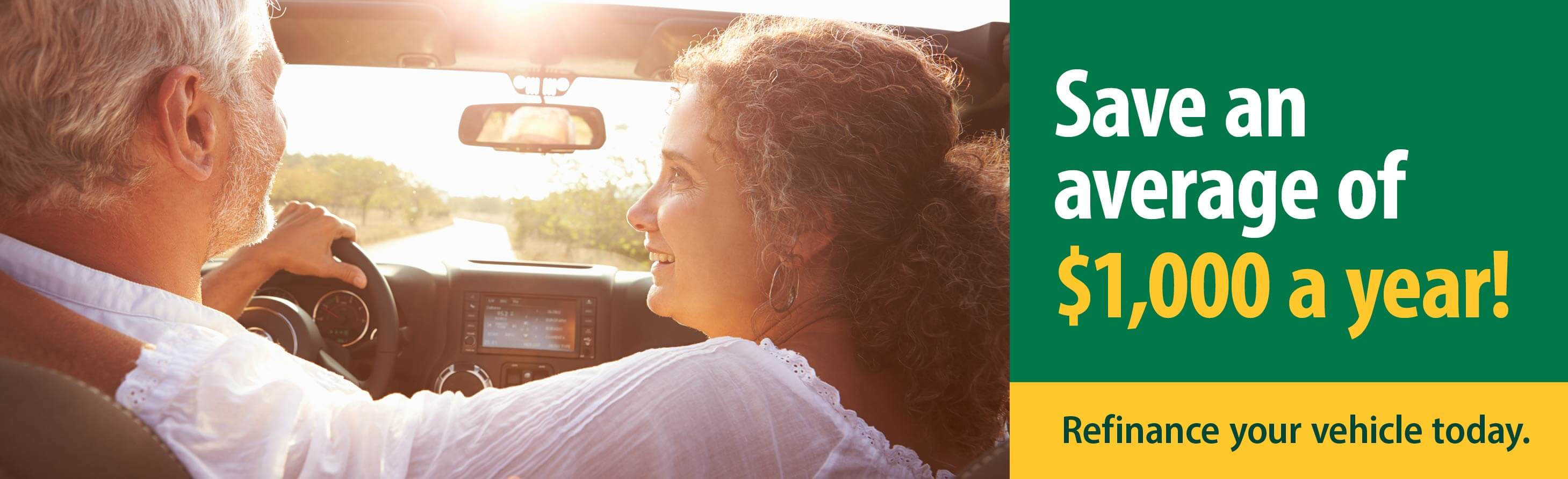 Refinance your vehicle and save!