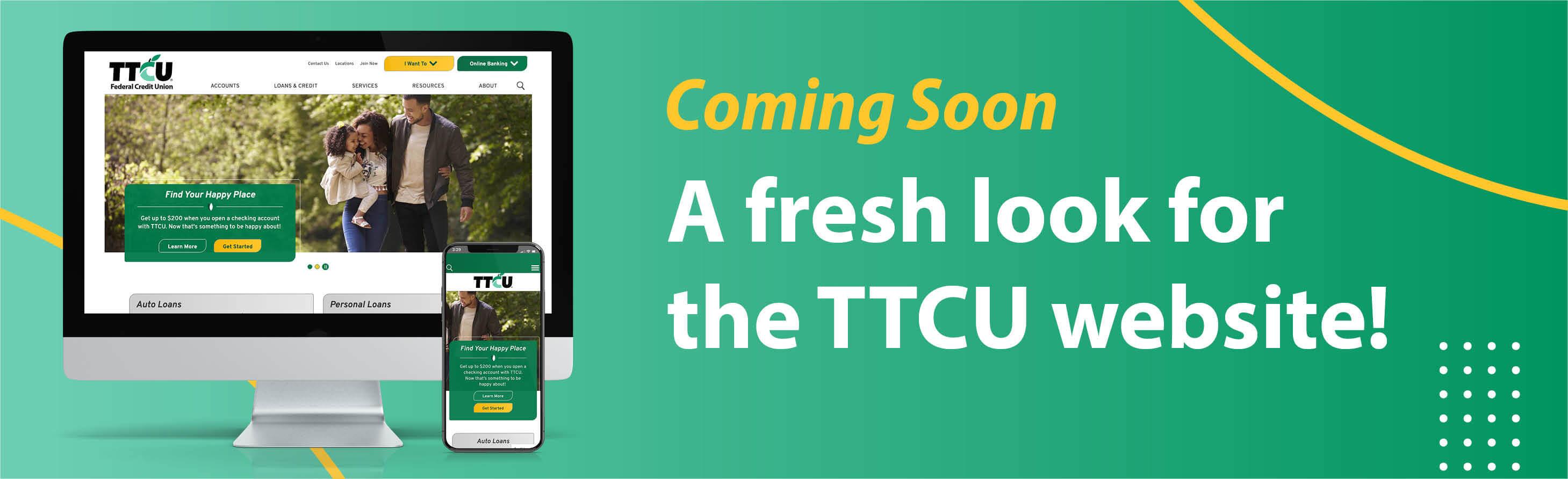 A fresh look for the TTCU website