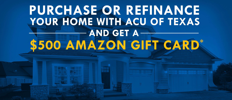 Mortgage $500 Amazon Gift Card Promotion