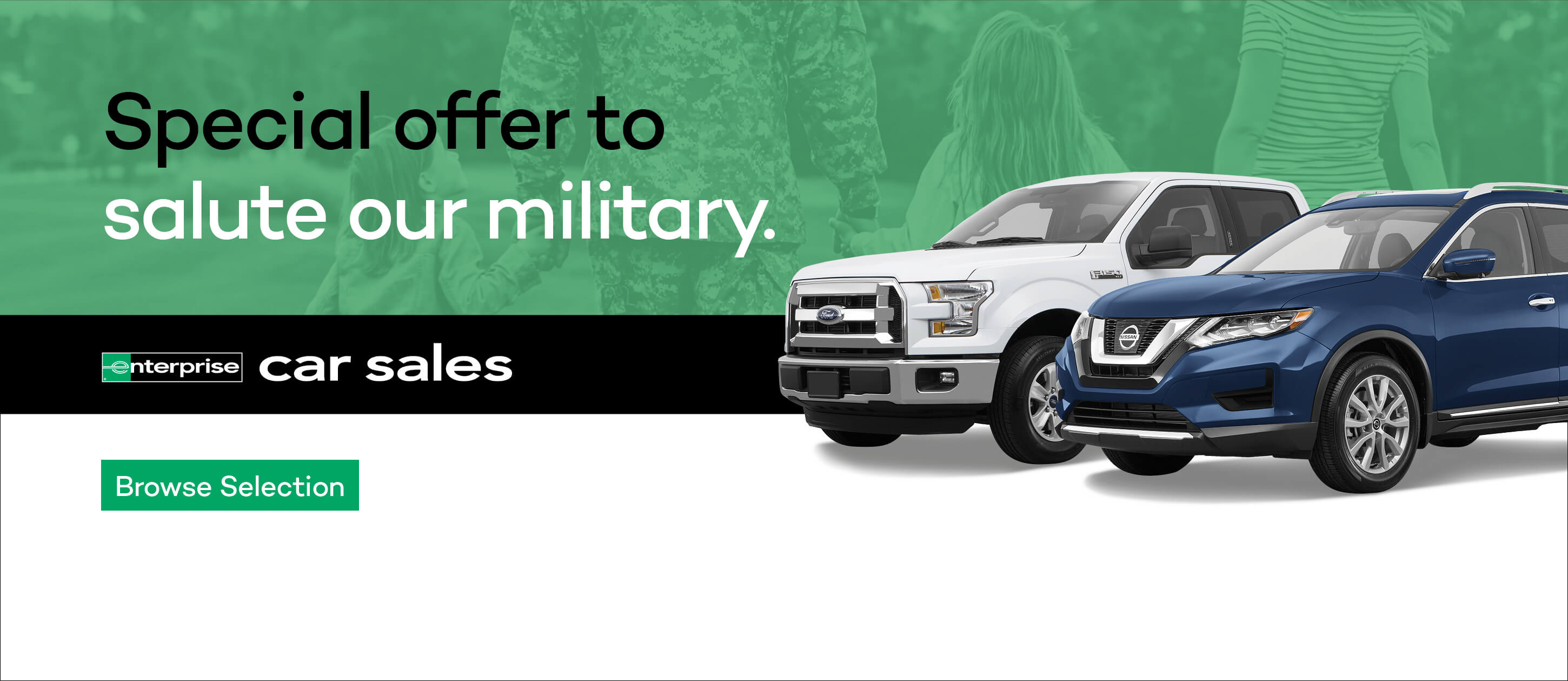 Enterprise Car Sales - special military offer
