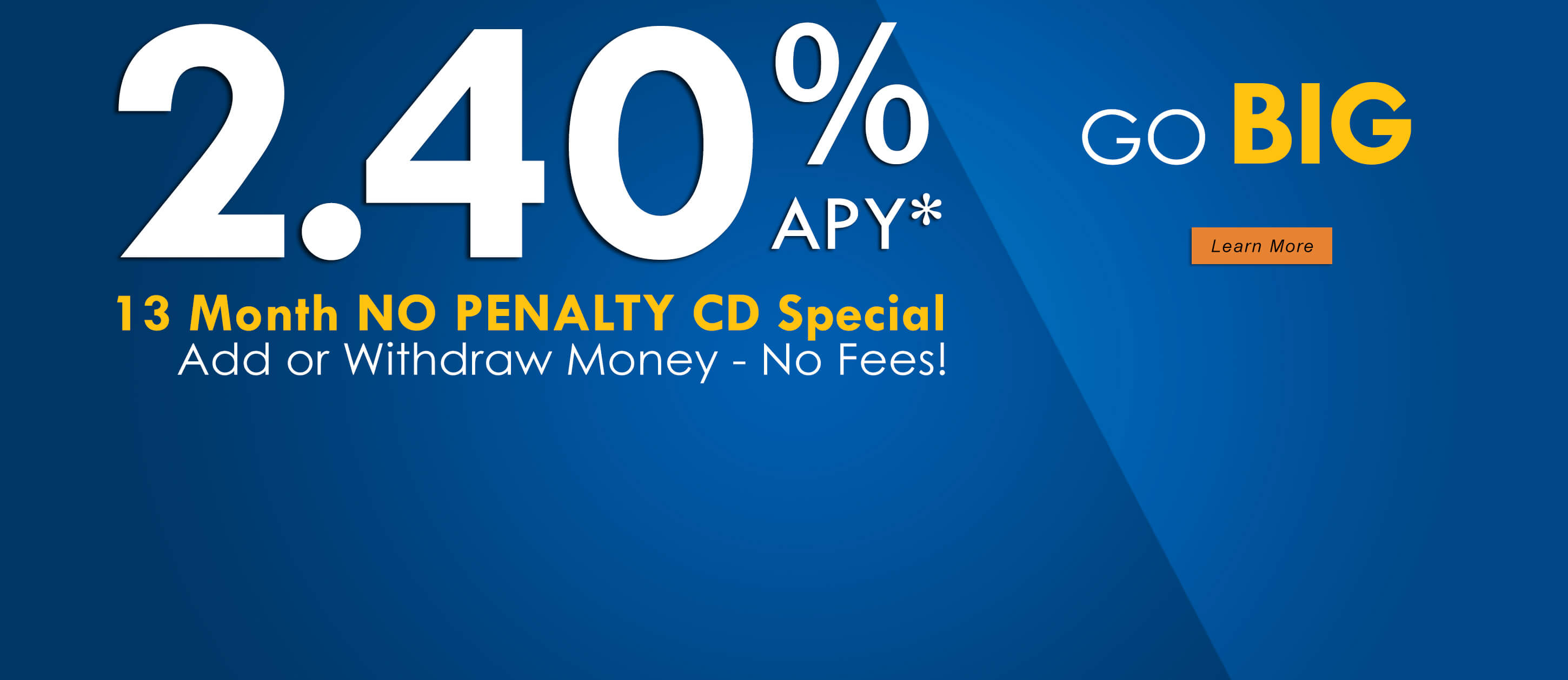 2.40% No Penalty CD