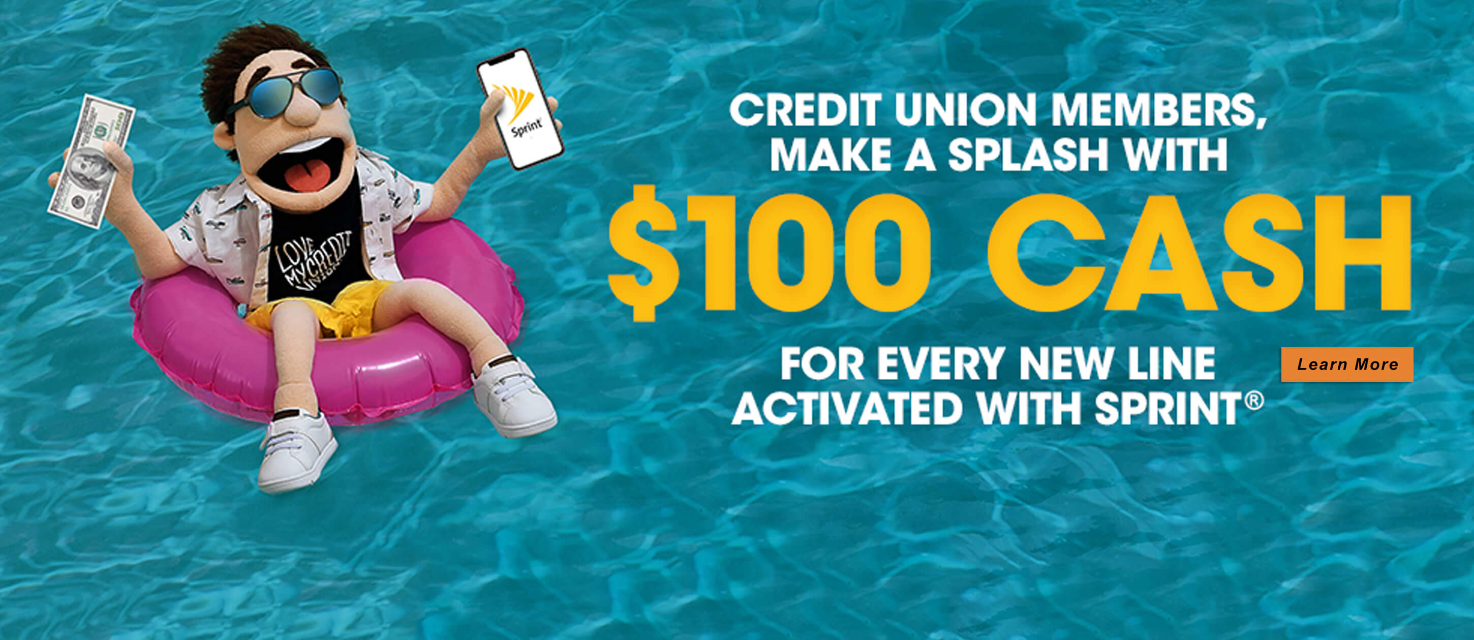 Get $100 Cash for every new line with Sprint
