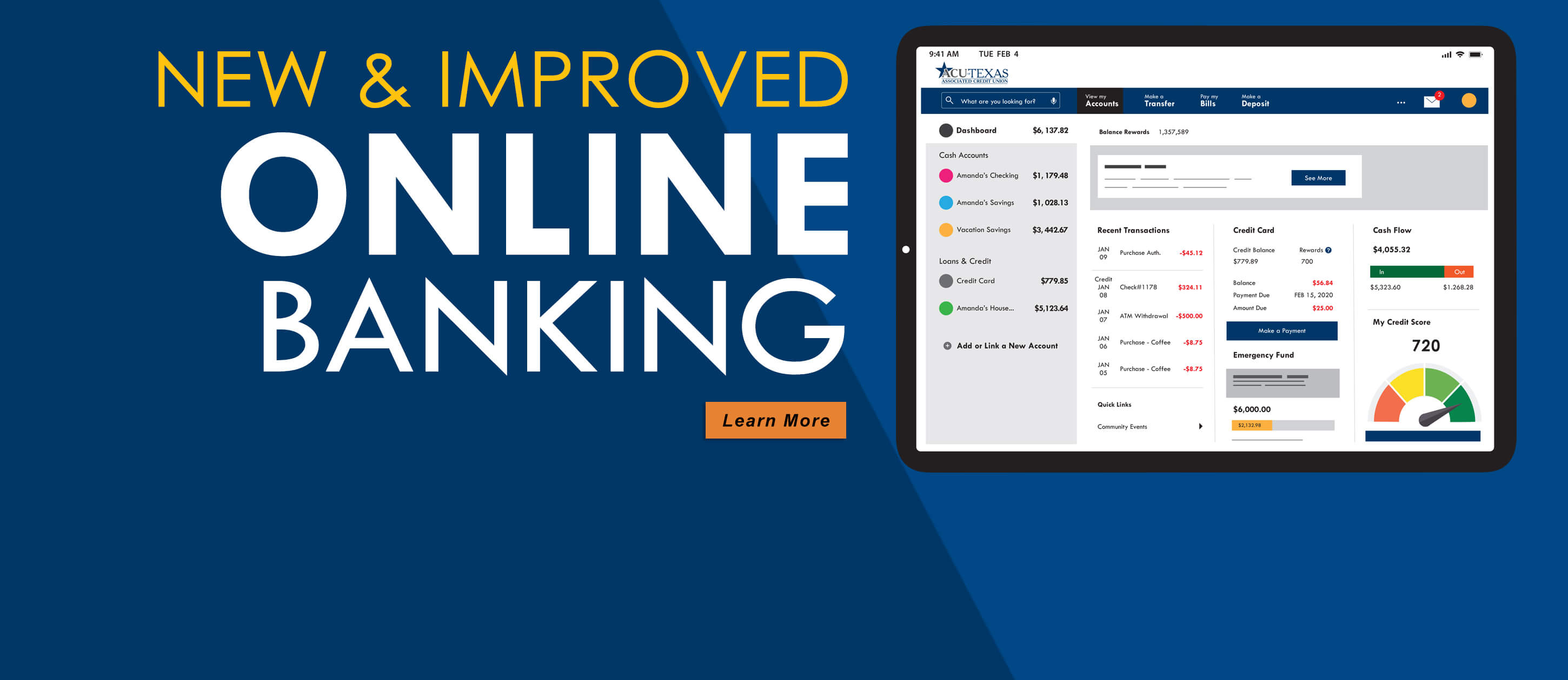 New and improved online banking is here!