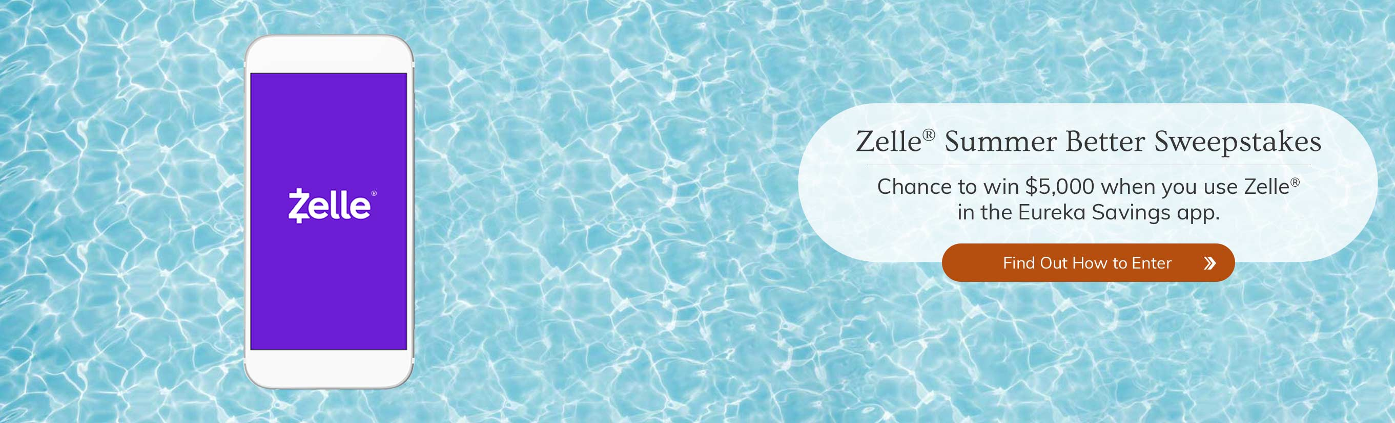 Zelle Summer Better Sweepstakes chance to win $5,000 when you use Zelle in the Eureka Savings app. Find out how to Enter