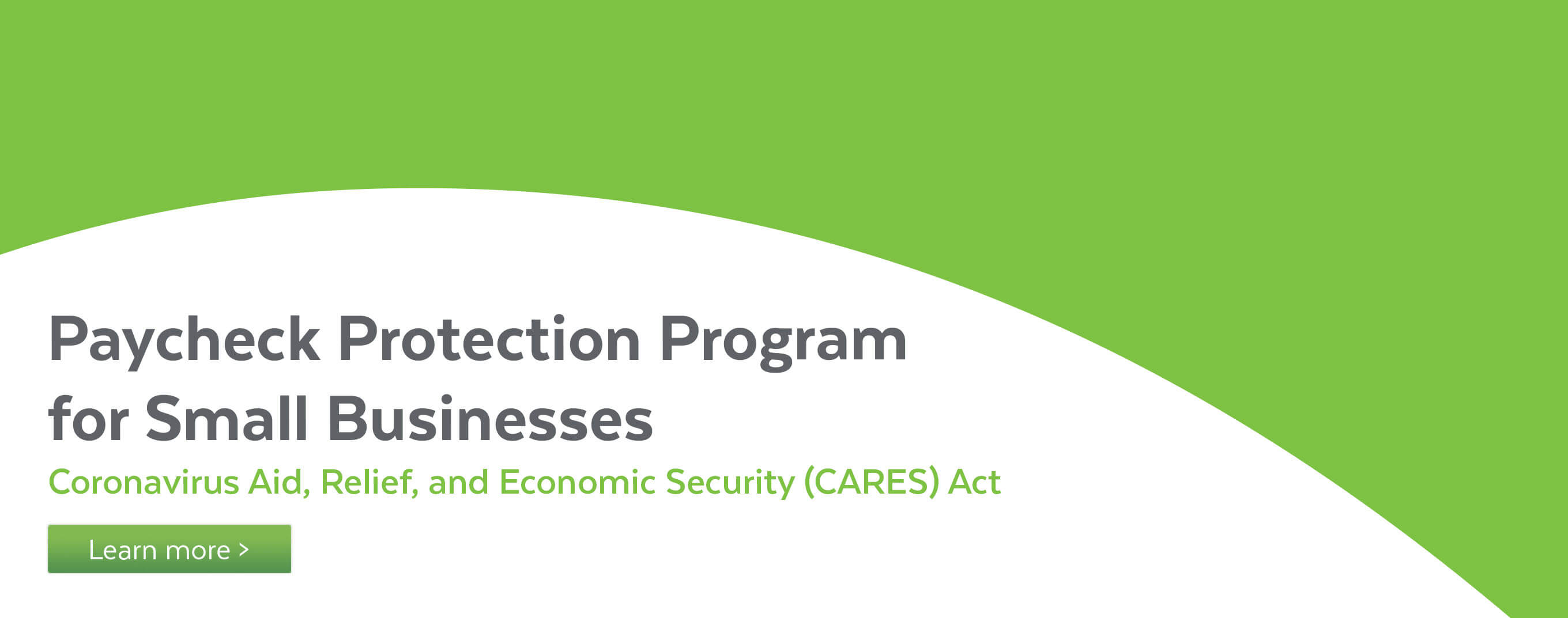 Paycheck Protection Program for small businesses.