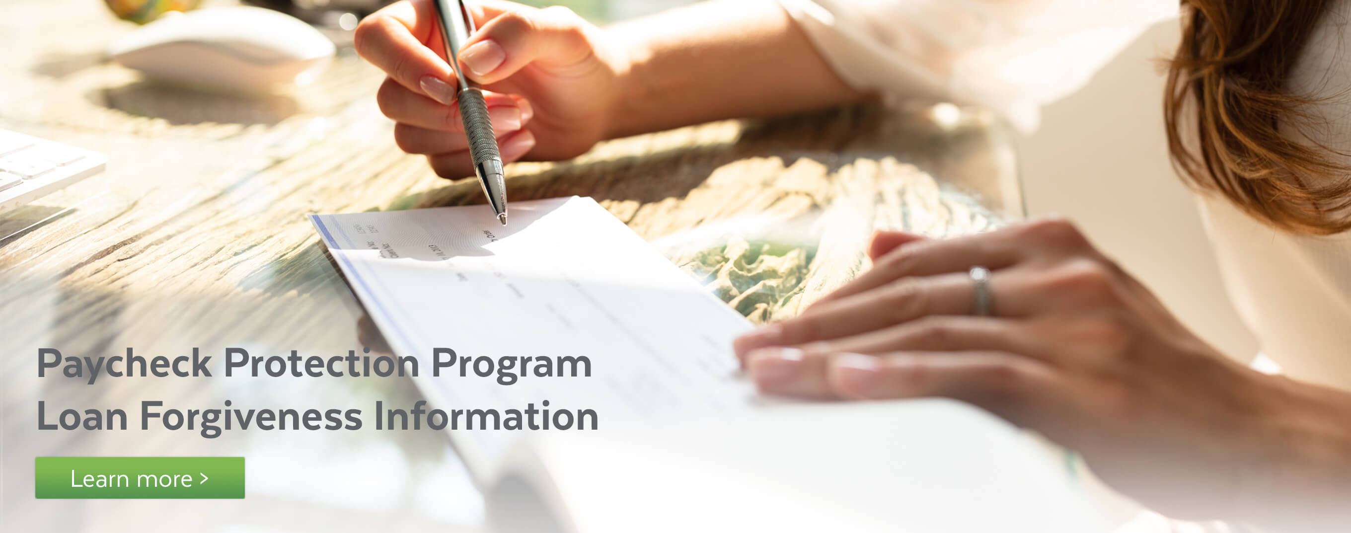 Paycheck Protection Program loan forgiveness information.