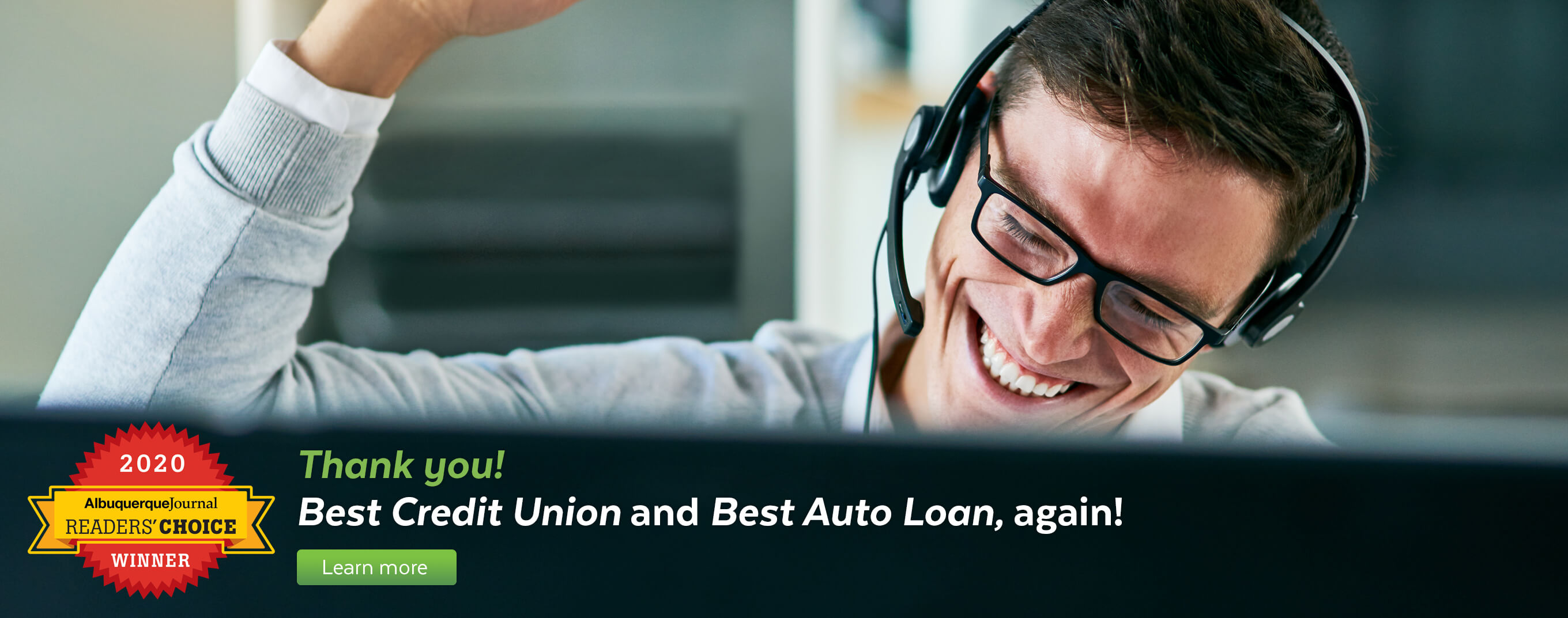Thank you! Nusenda wins Best Credit Union and Best Auto Loan in the Albuquerque Journal Readers' Choice awards.