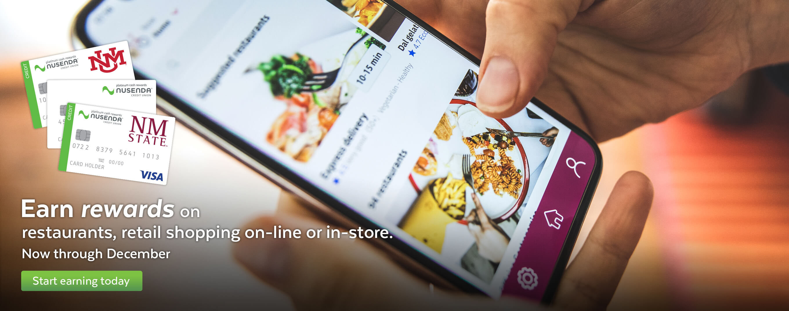 Earn rewards on restaurants and retail shopping online or in-store now through December.