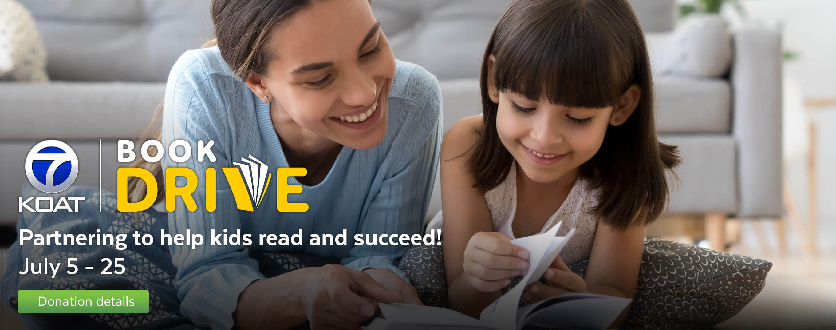 Donate to KOAT's book drive to help kids read and succeed.