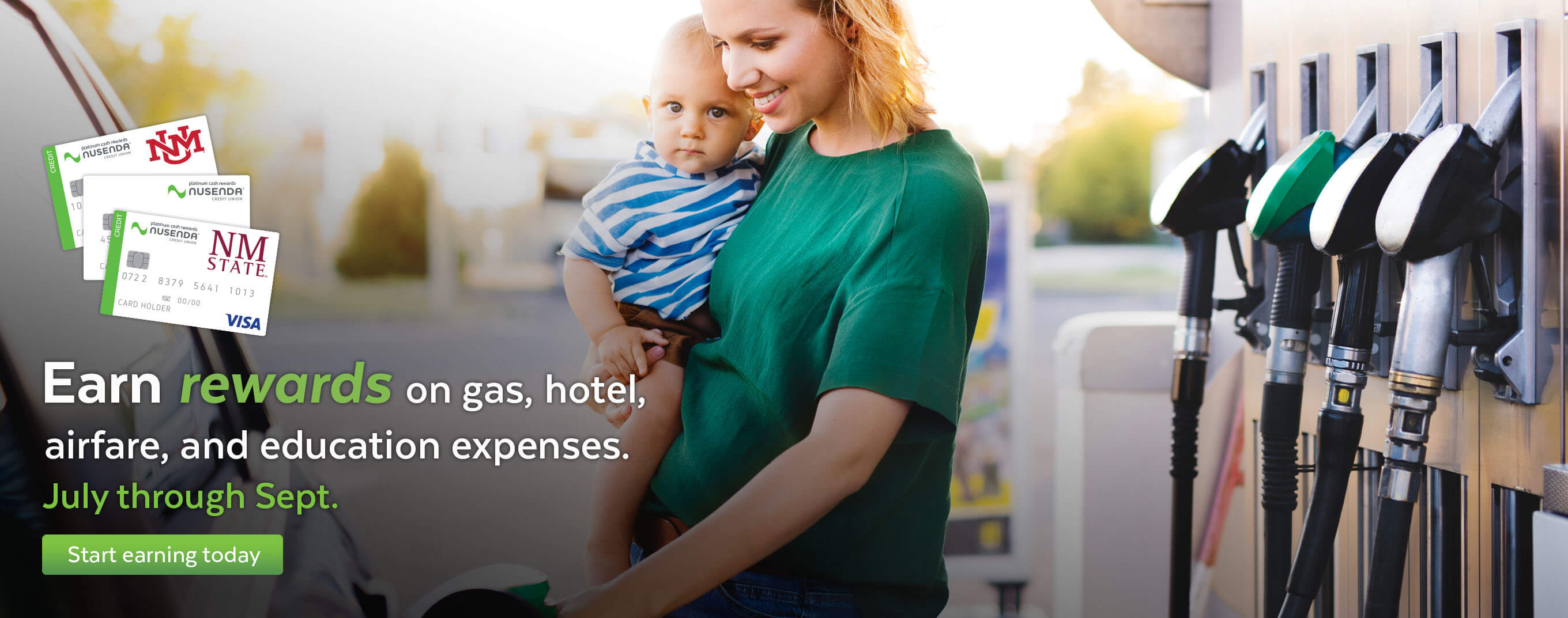 Earn rewards on gas, hotel, airfare, and education expenses now through September.