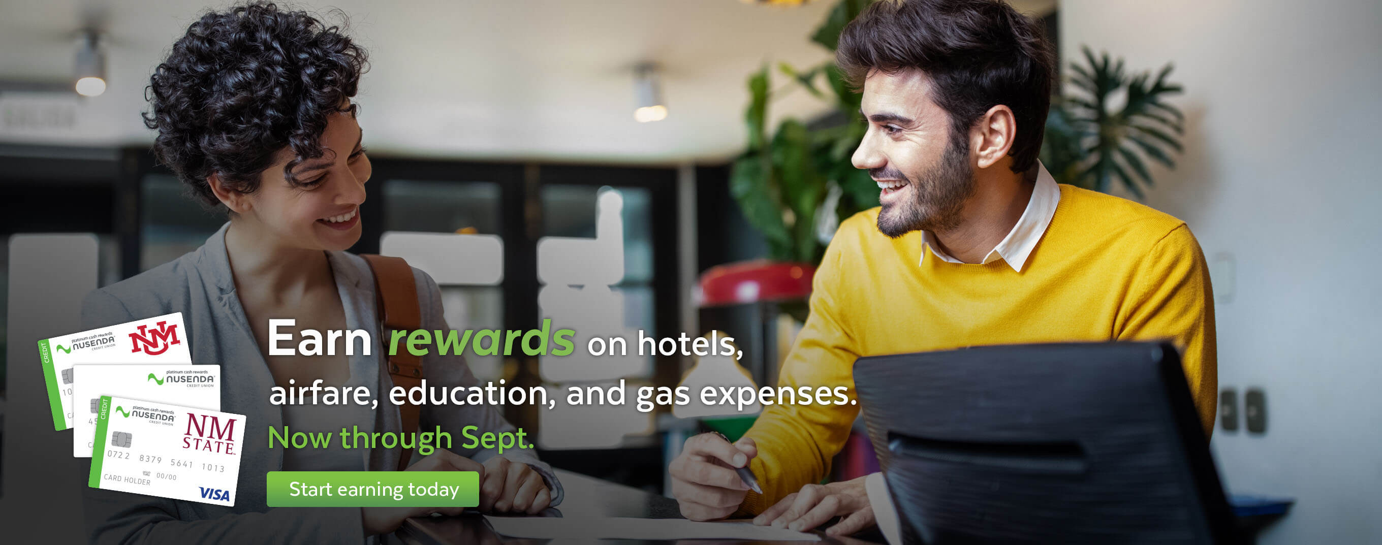 Earn rewards on education, hotel, airfare, and gas expenses now through September.