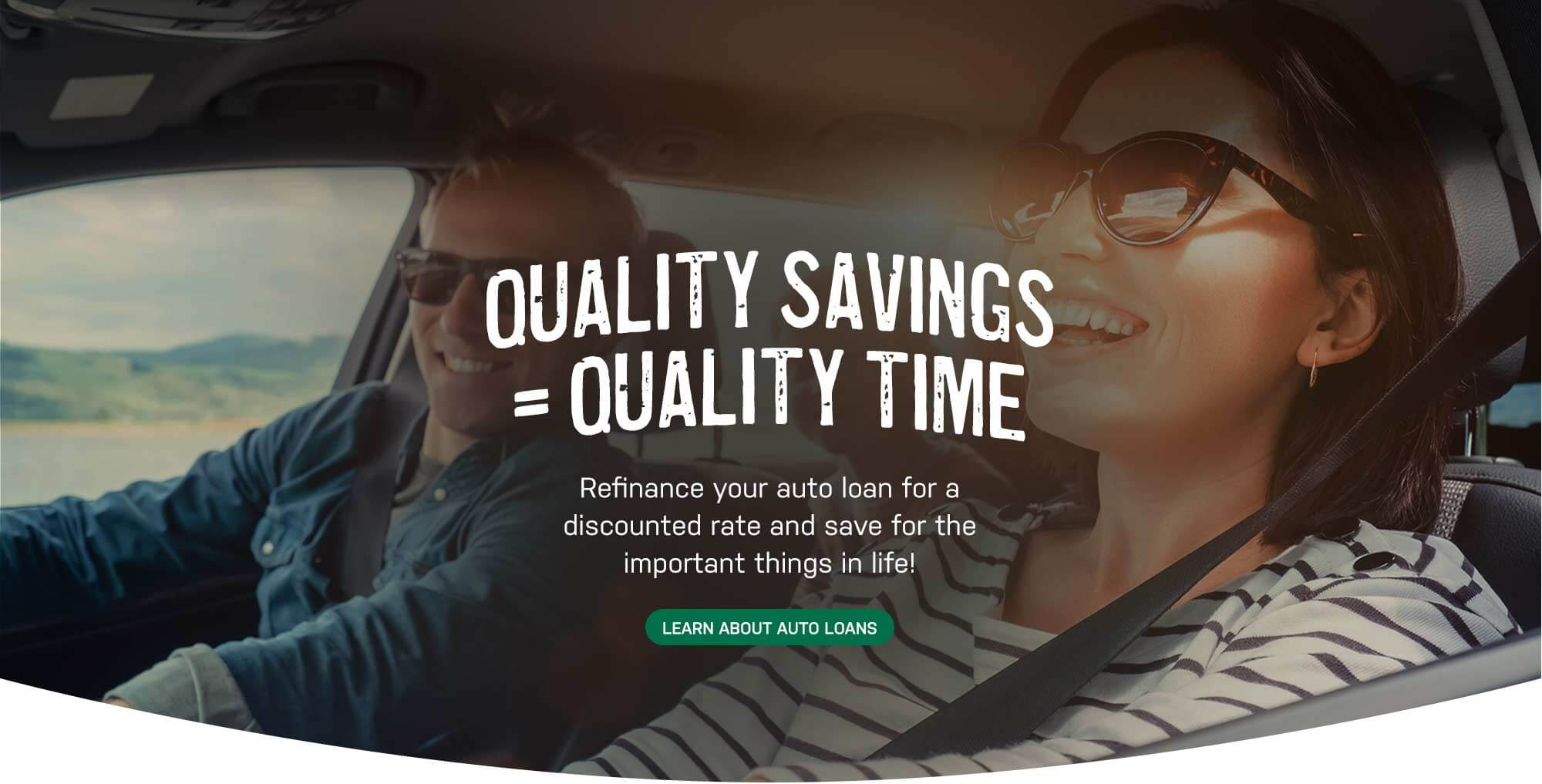 Refinance your auto loan for a discounted rate and save for the important things in life! Click here for auto loan details.