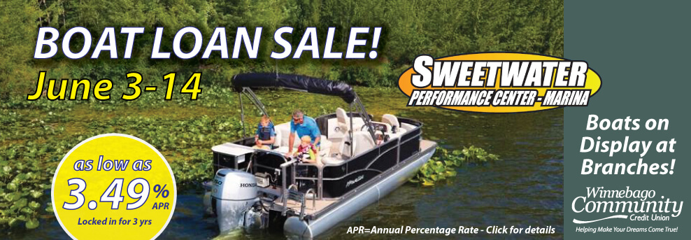 Boat Sale and Recreational Loan 3.49%apr 3yr