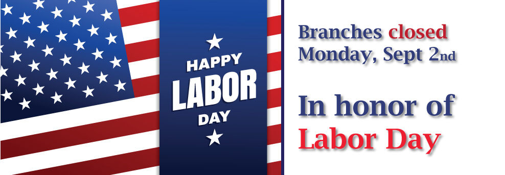 Labor Day Branches Closed