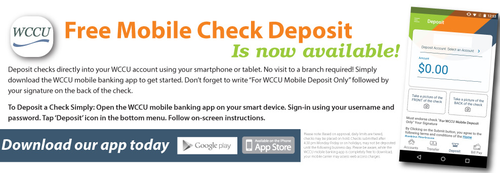 New Mobile Check Deposit