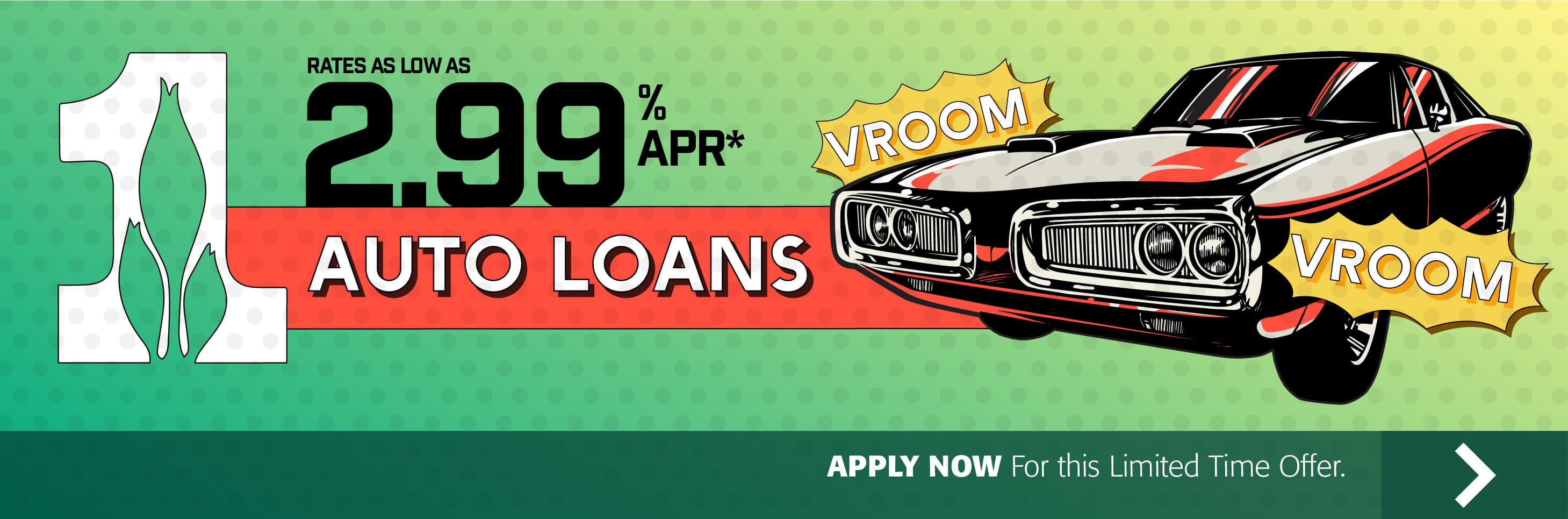 Auto Loans 2.99% APR*