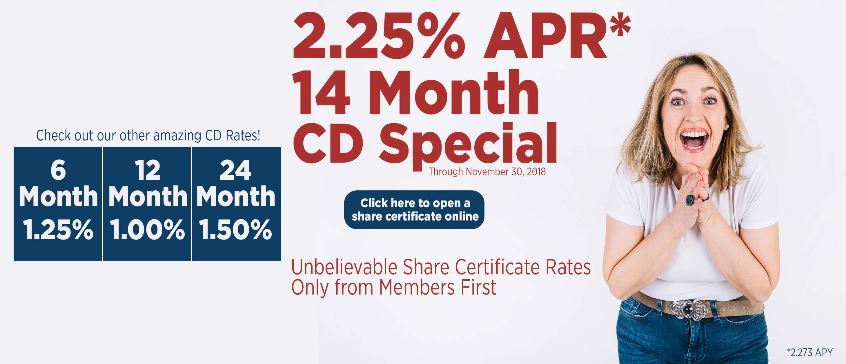 14 Month CD Special