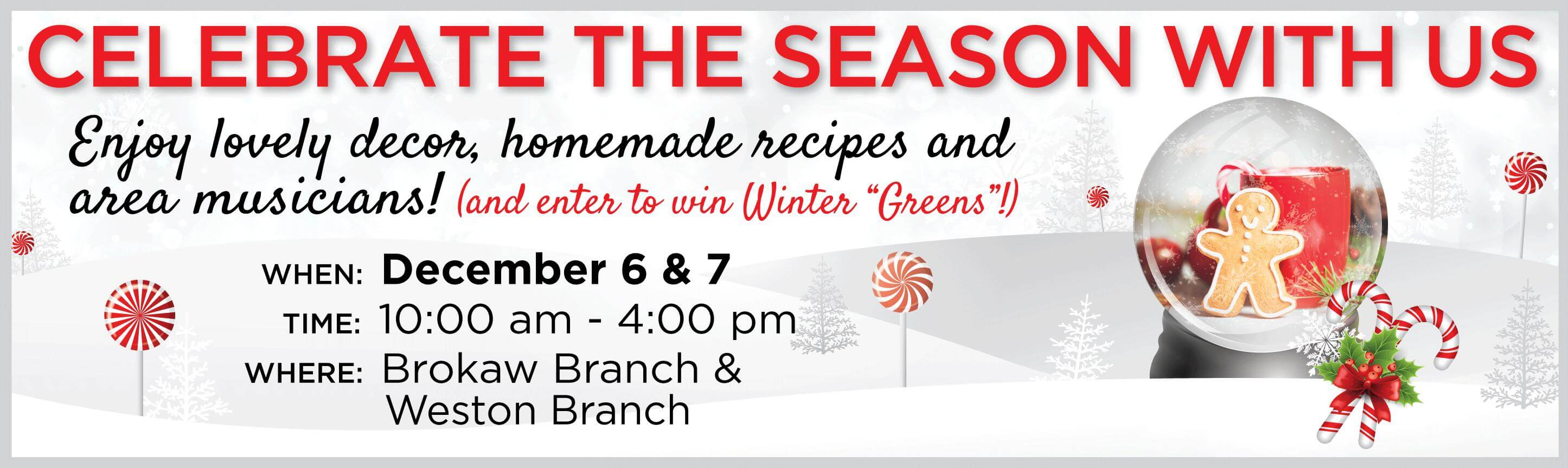 Celebrate the Season With Us!