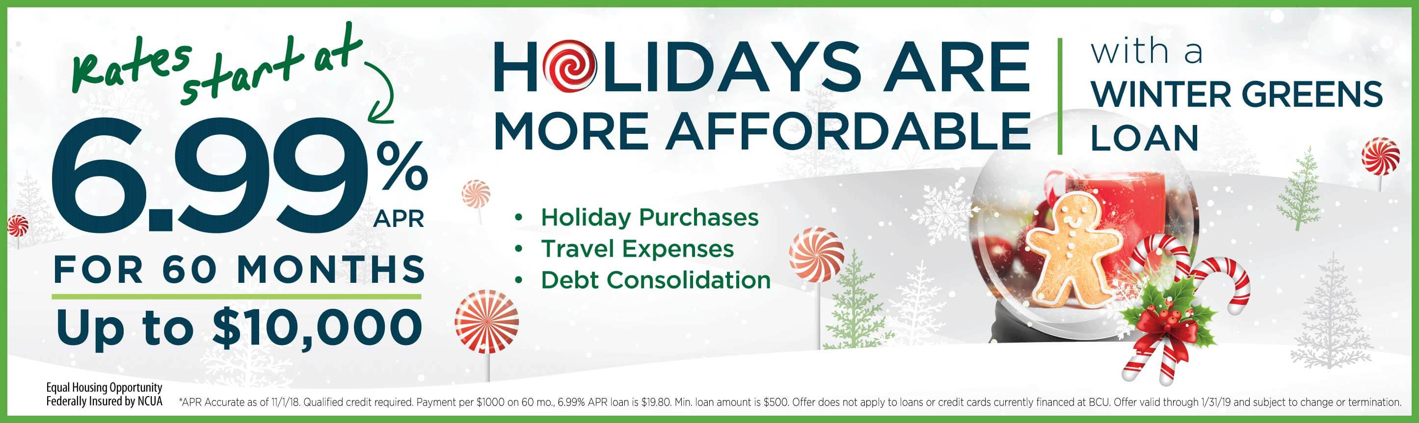 Apply for a Winter Greens Holiday Loan