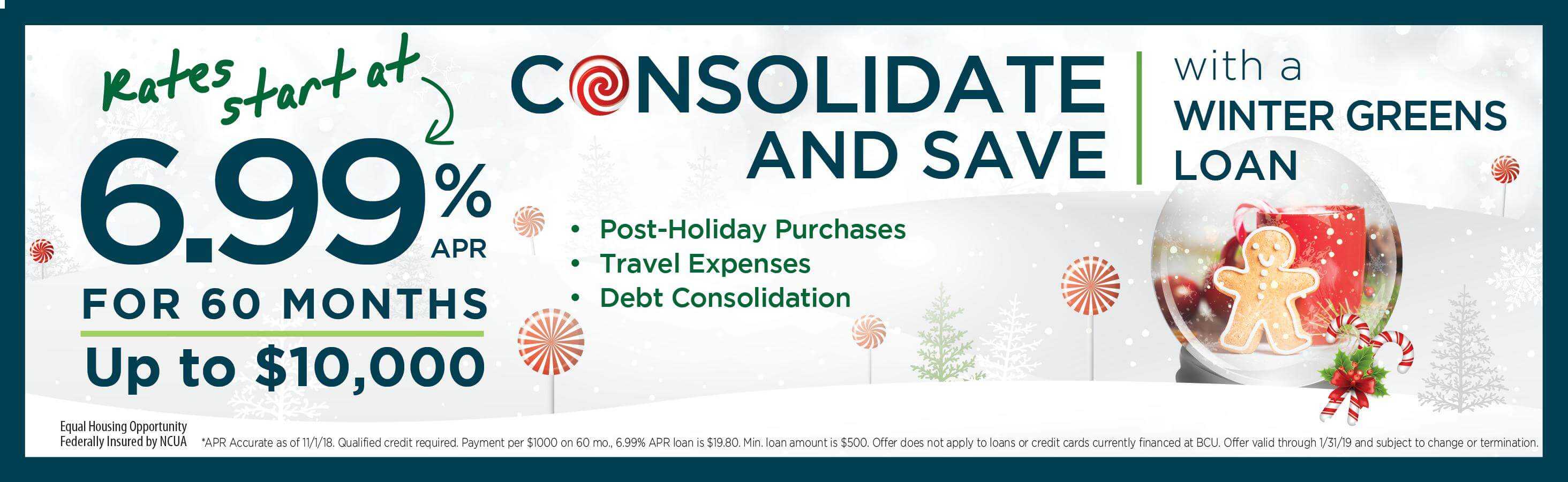 Consolidate and Save with a Winter Greens Holiday Loan