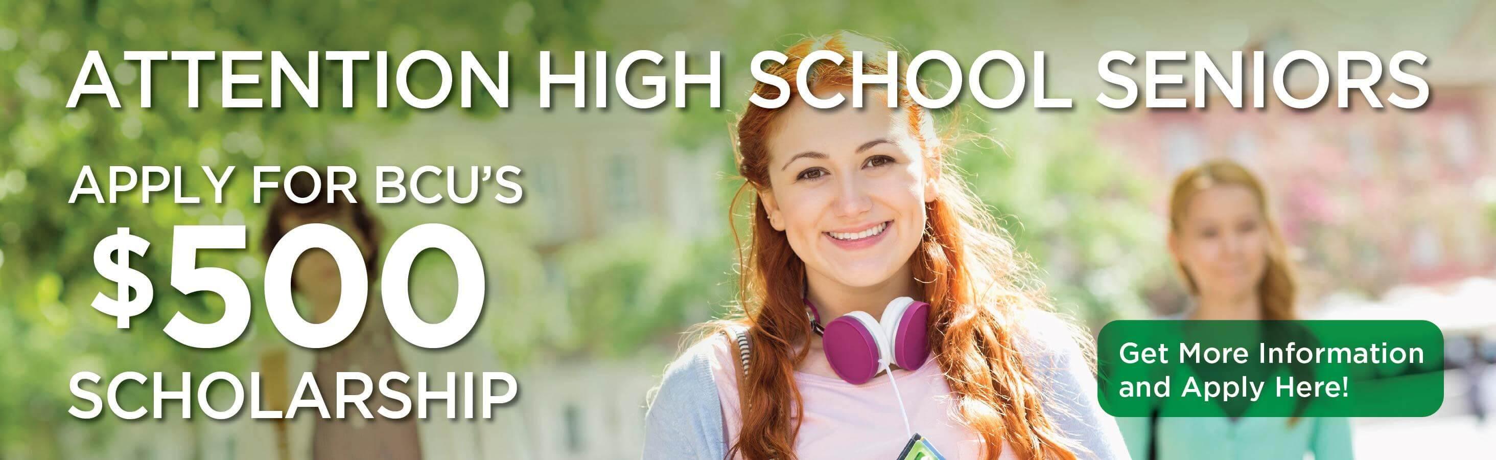 Apply for a BCU Scholarship!
