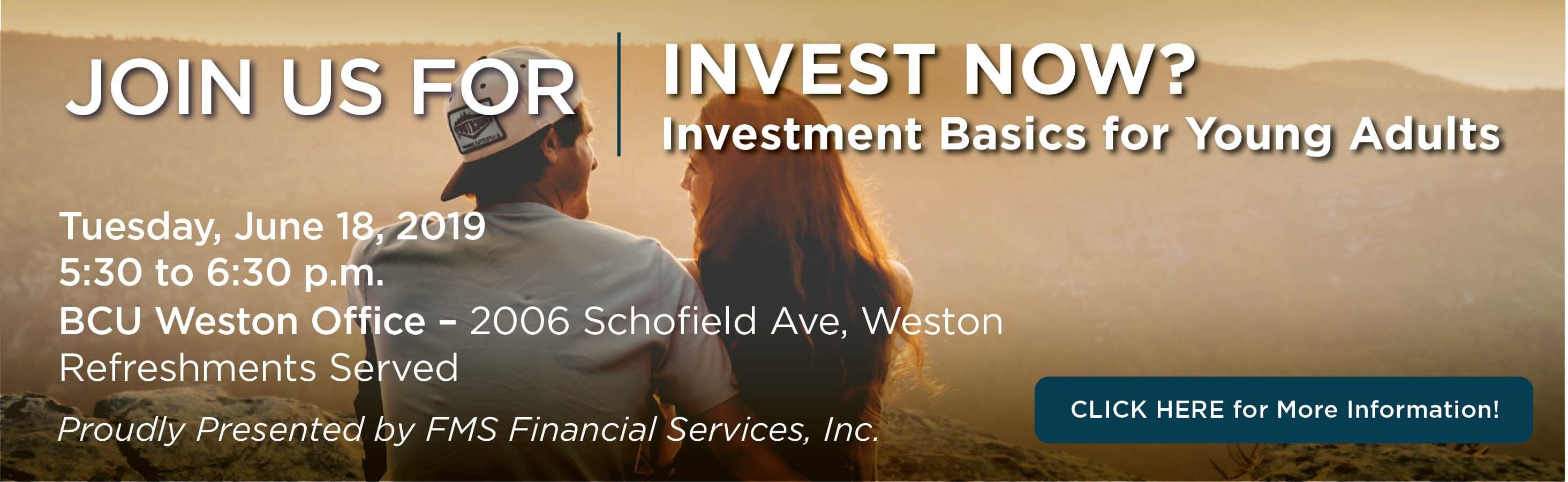 Investments Basics Seminar for Young Adults
