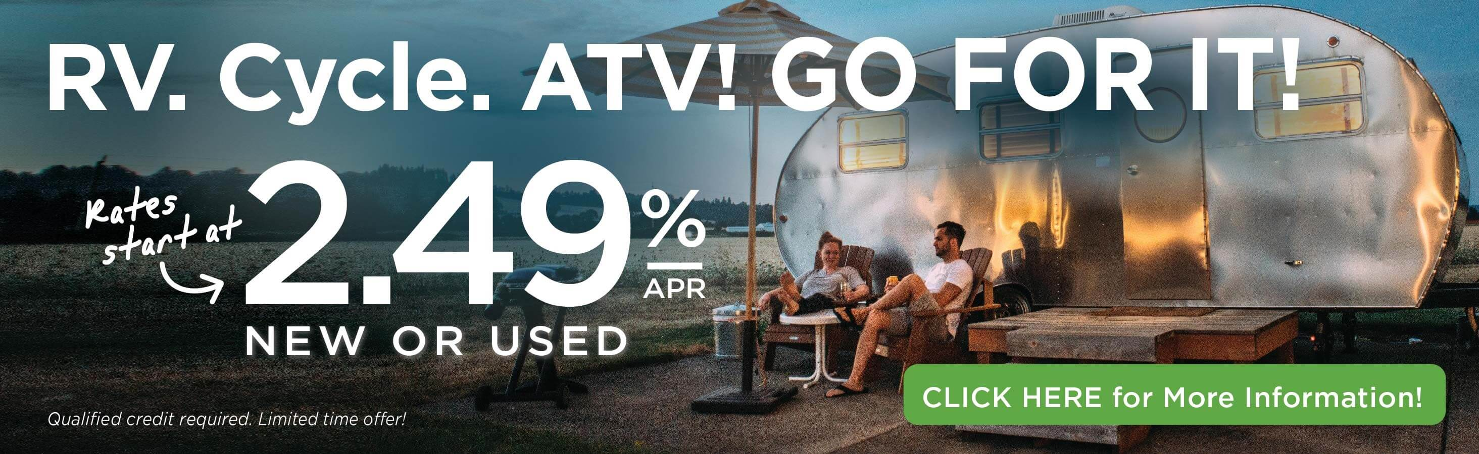 RV and Camper Loan Special
