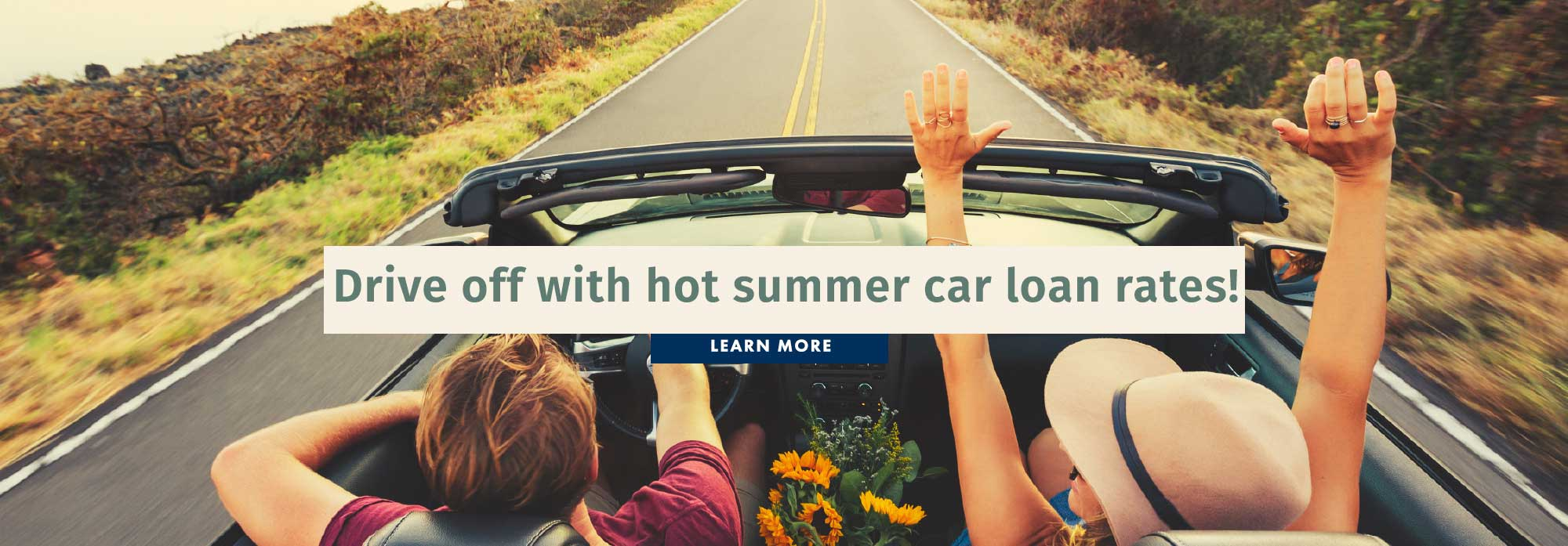 Drive off with hot summer car loan rates!