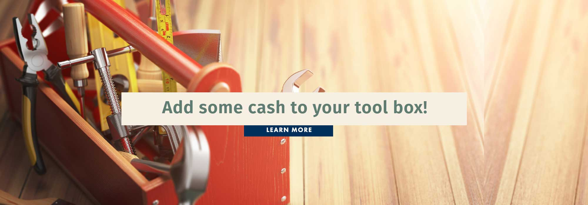Add some cash to your tool box