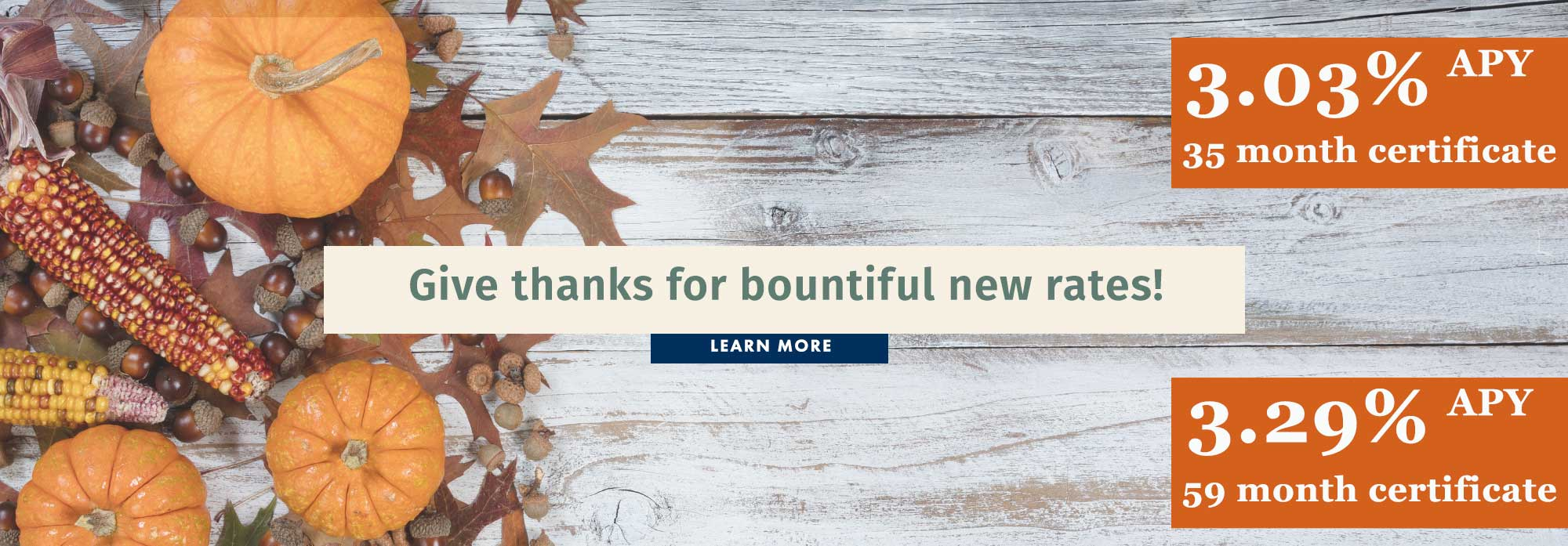 Give thanks for bountiful new rates!