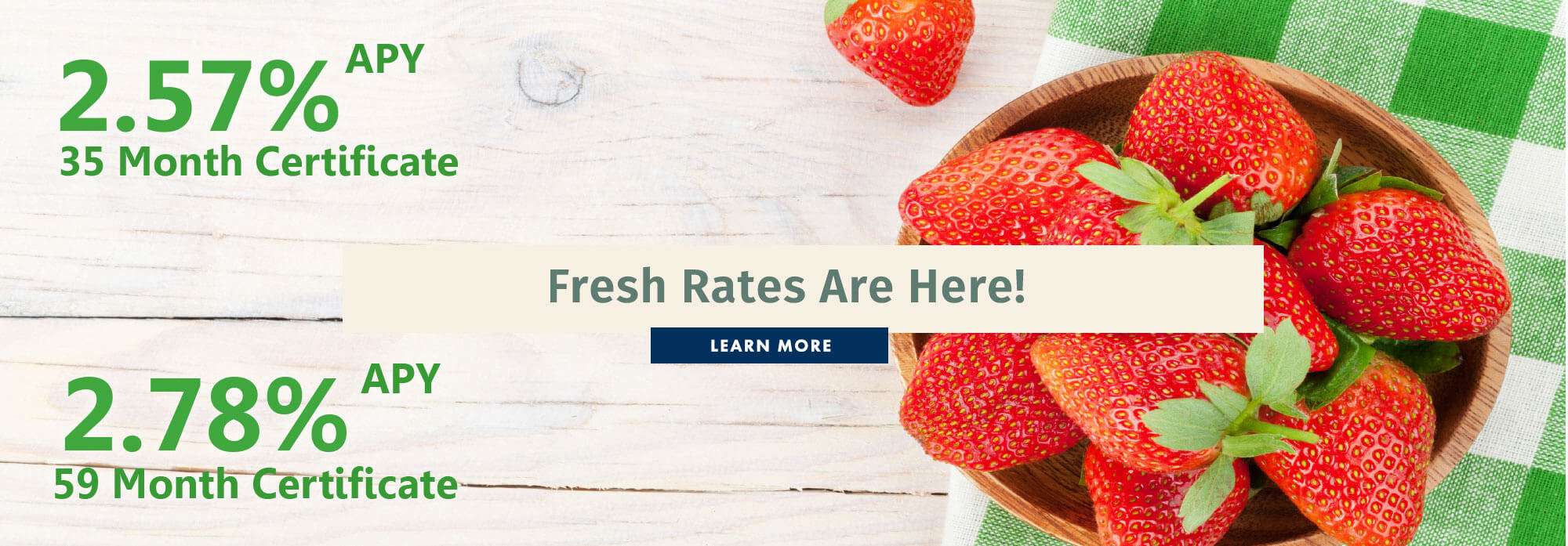 Fresh Rates Are Here!