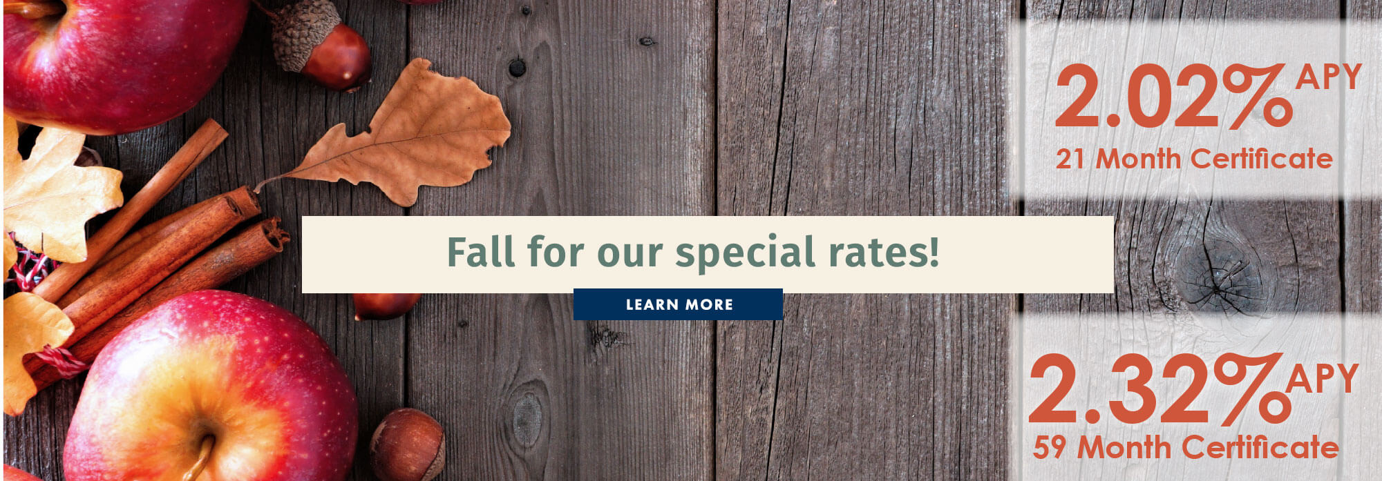 Fall for Our Special Rates
