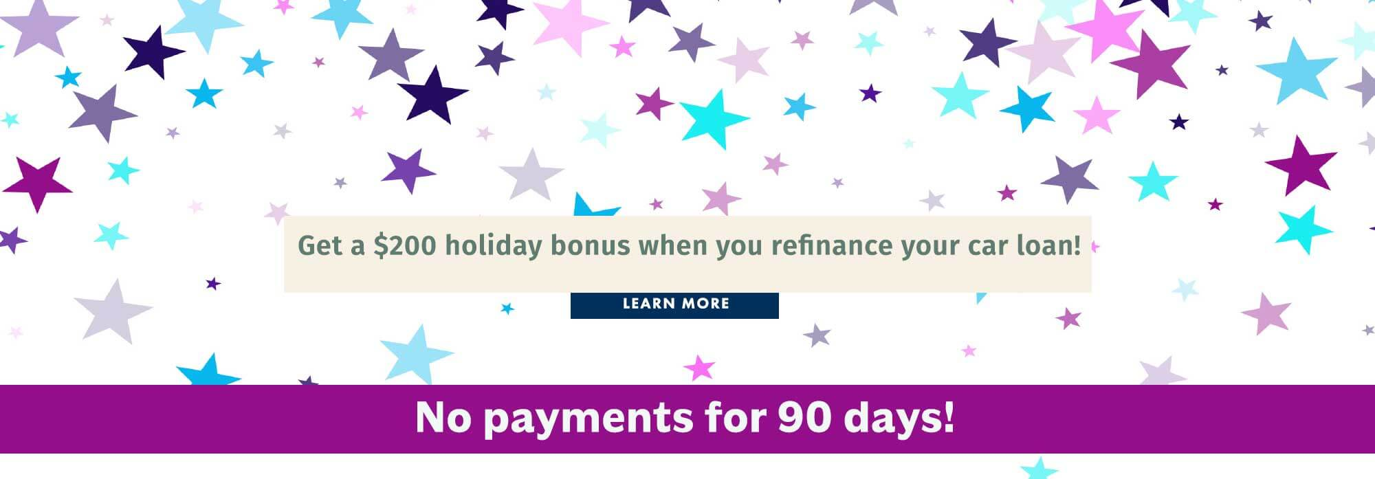 Get a $200 holiday bonus when you refinance your car loan!