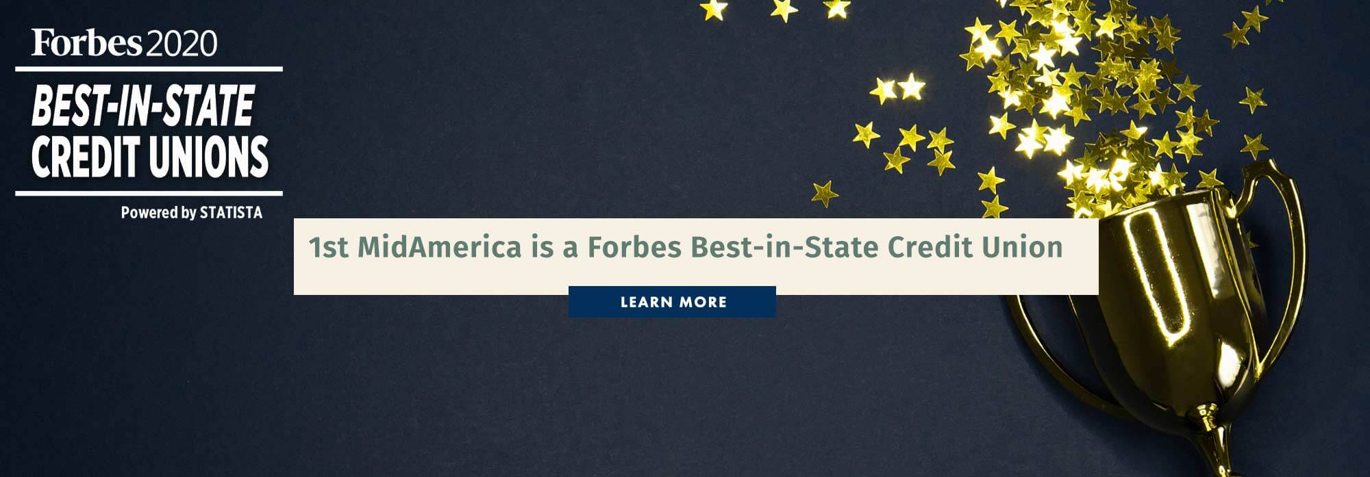 1st MidAmerica is a Forbes Best-in-State Credit Union