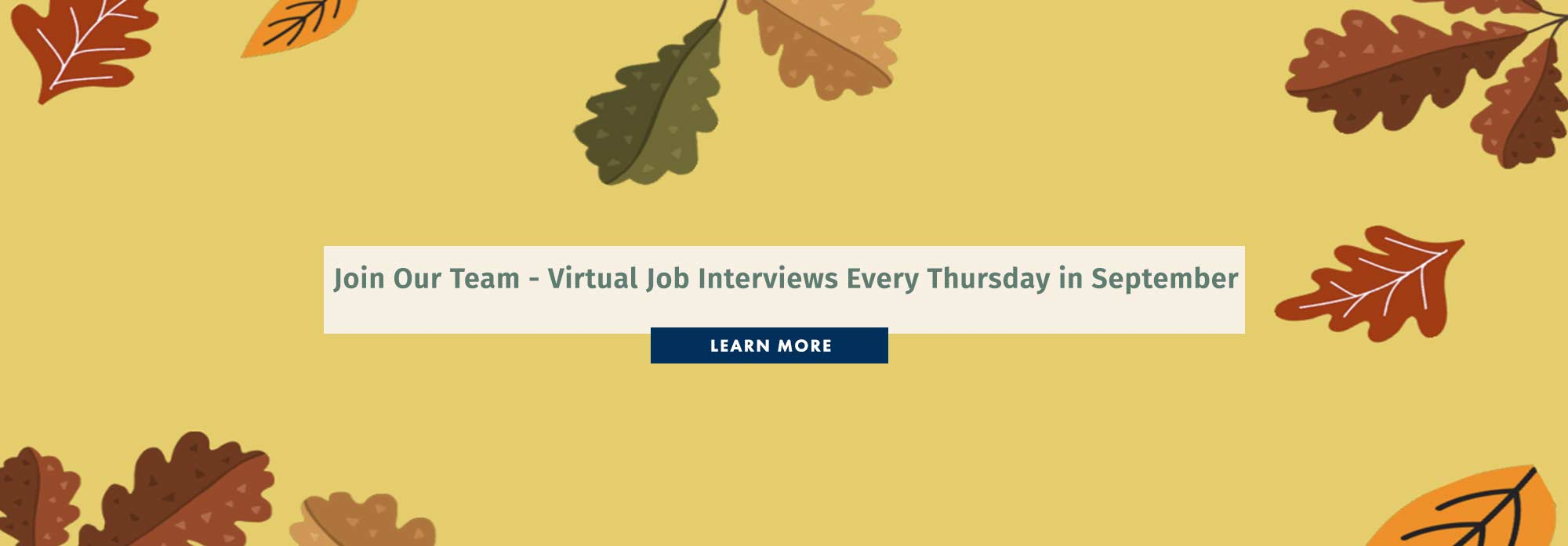 Join Our Team - Virtual Job Interview Every Thursday in September
