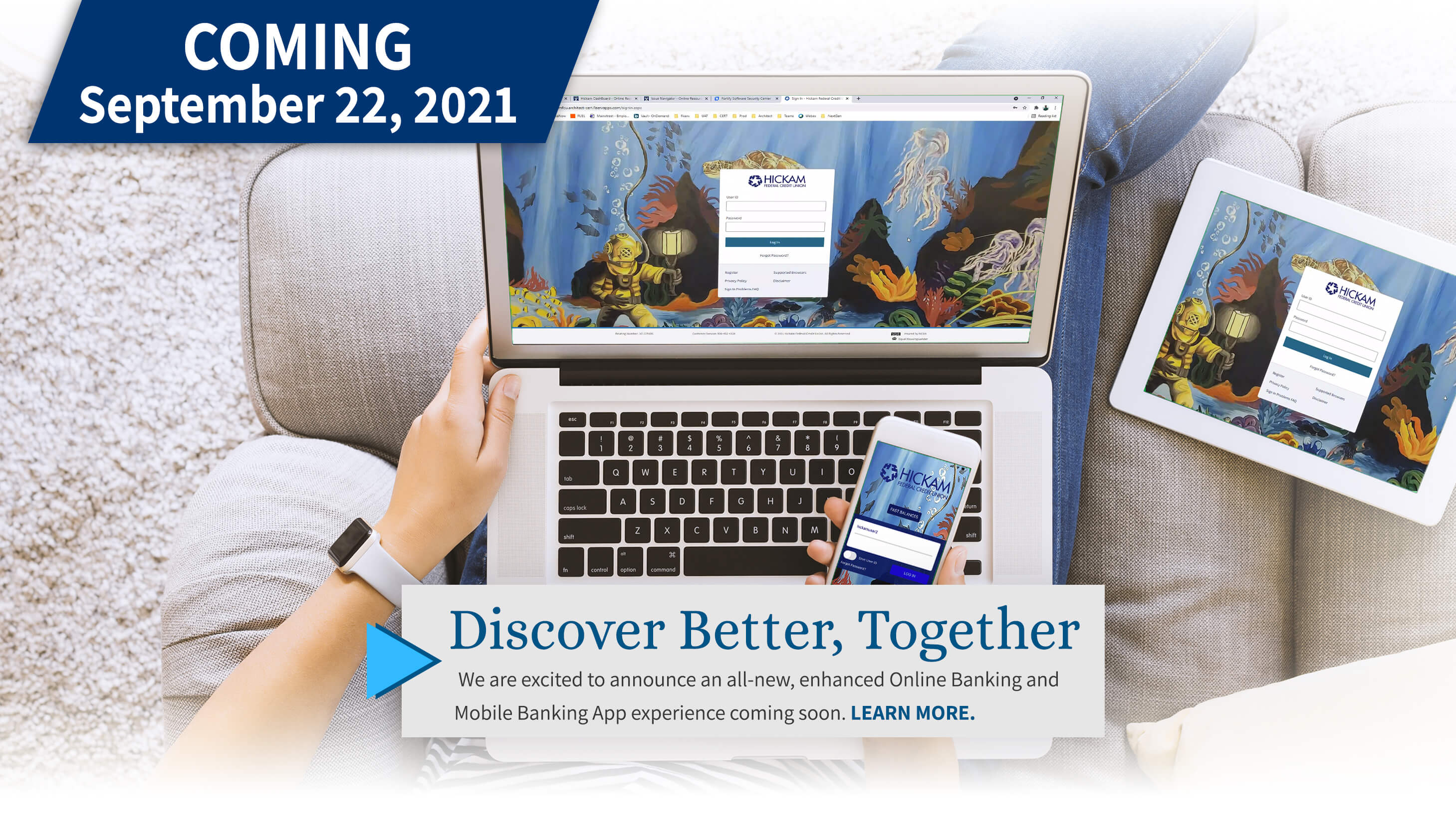 Coming September 22, 2021 Online and Mobile Banking Upgrade. Click For Details.