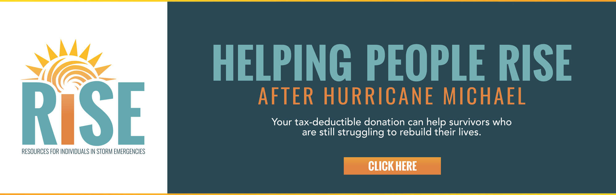 By making a tax-deductible donation to RISE, you'll be providing essential assistance to people affected by Hurricane Michael.