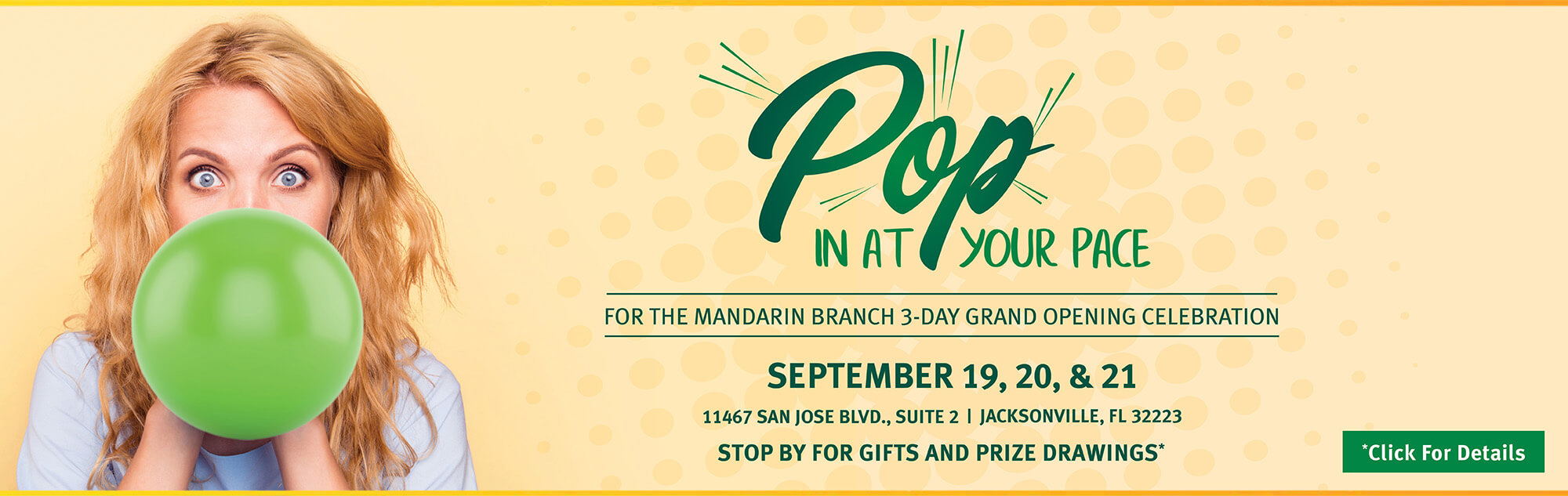 Celebrate our new Mandarin Branch on 9/19-9/21