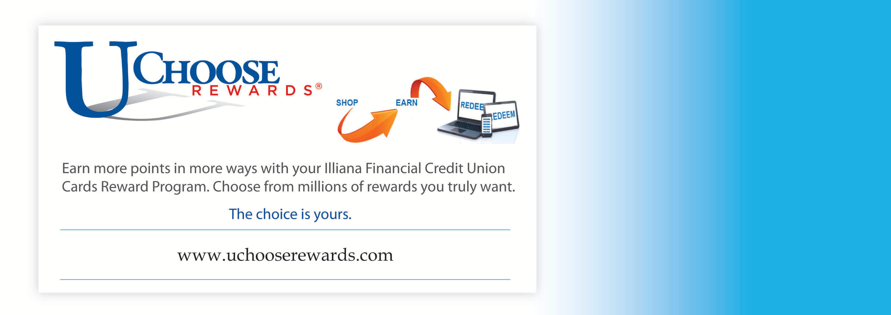 Earn points using Illiana Financial Credit Reward Program