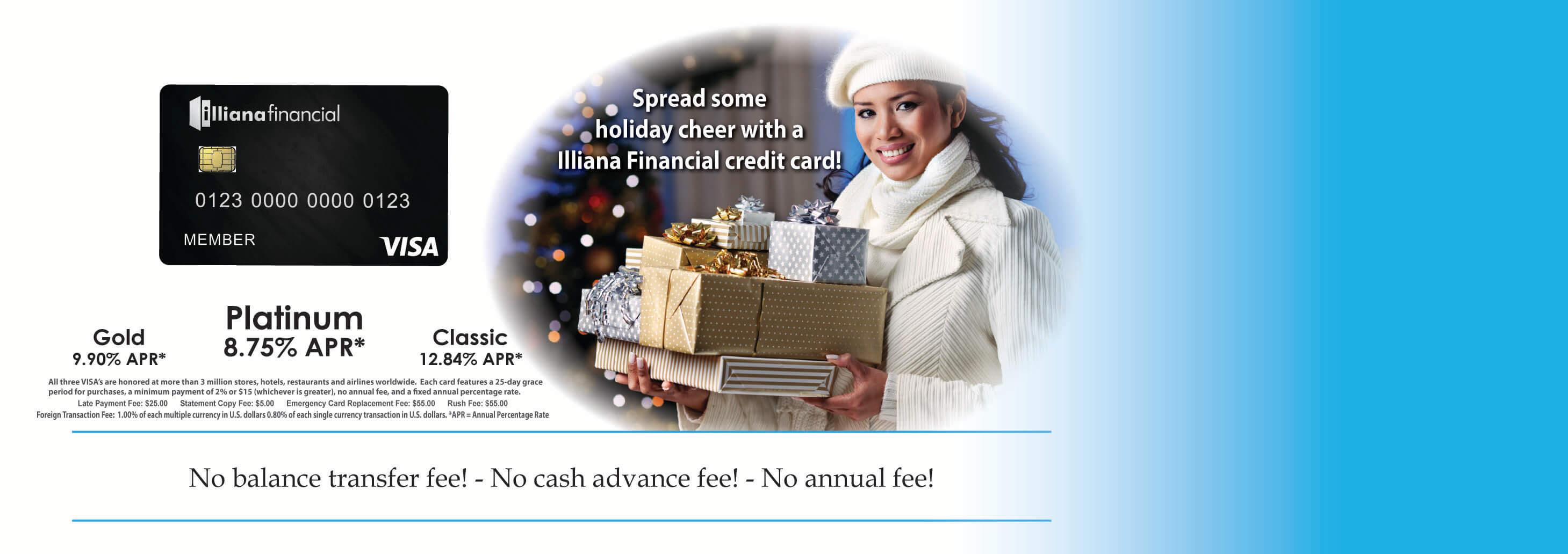 Visa Holiday Credit Card: Gold 9.90% APR, Platinum 8.75% APR, Classic 12.84% APR