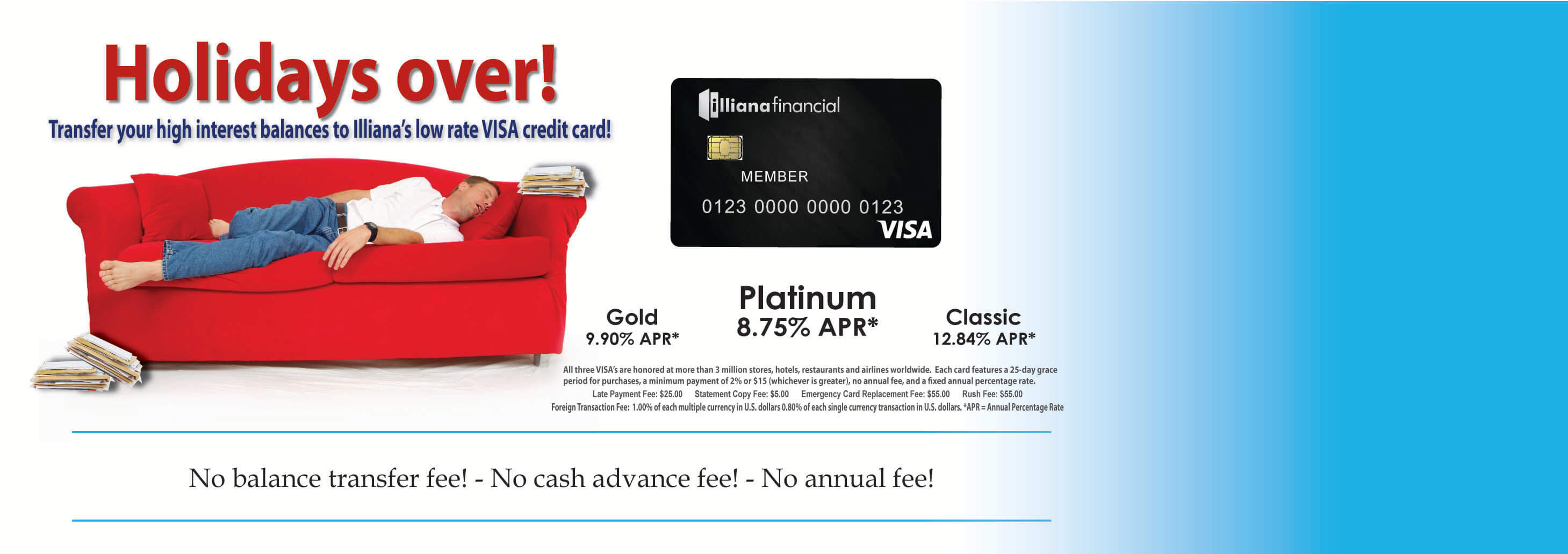Visa Credit Card for after the Holidays