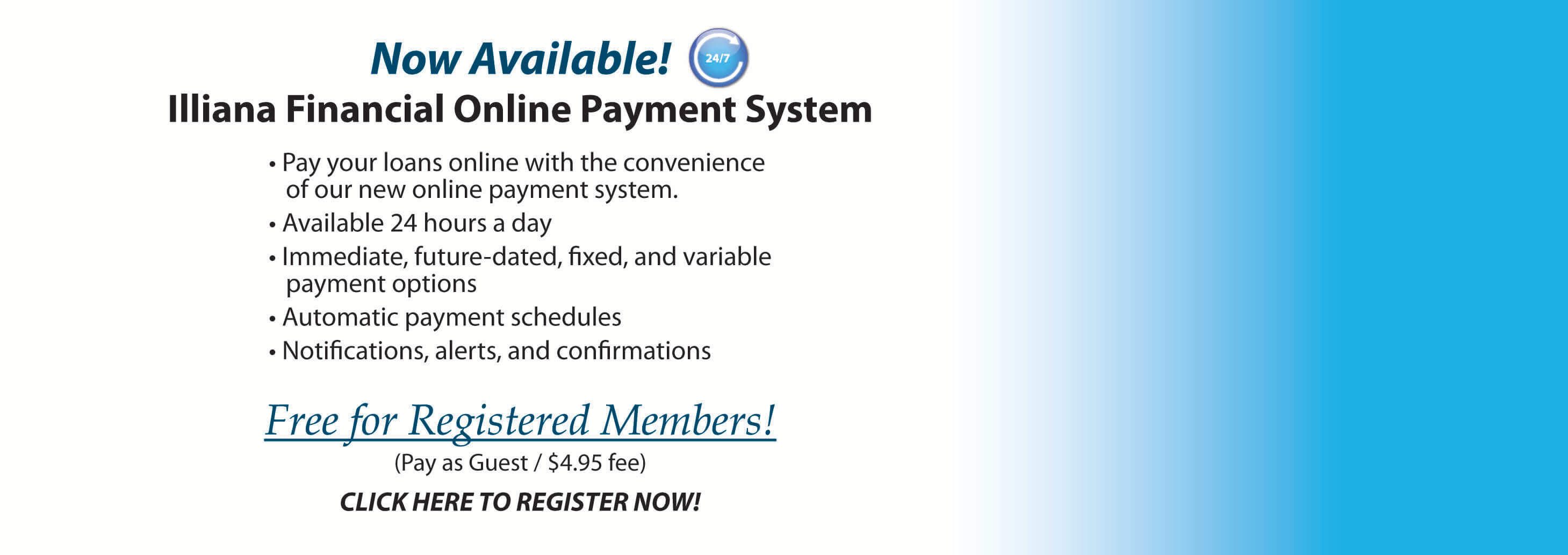 Online Loan Payment System now available