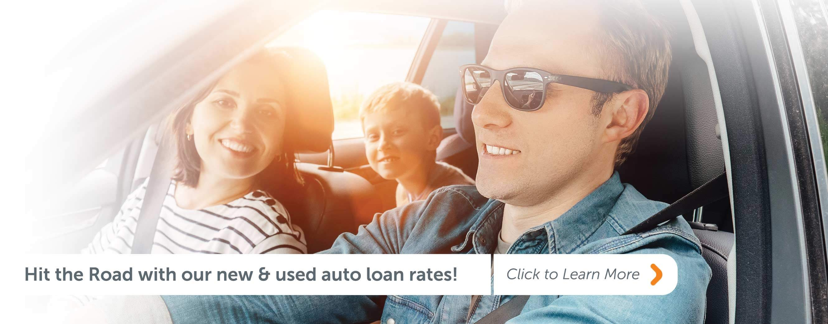 Auto Loan Rates as low as 3.25% APR* Click to learn more