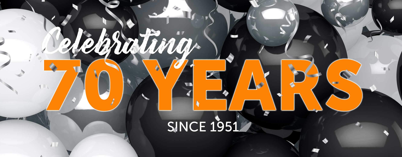 Celebrating 70 Years! Since 1951