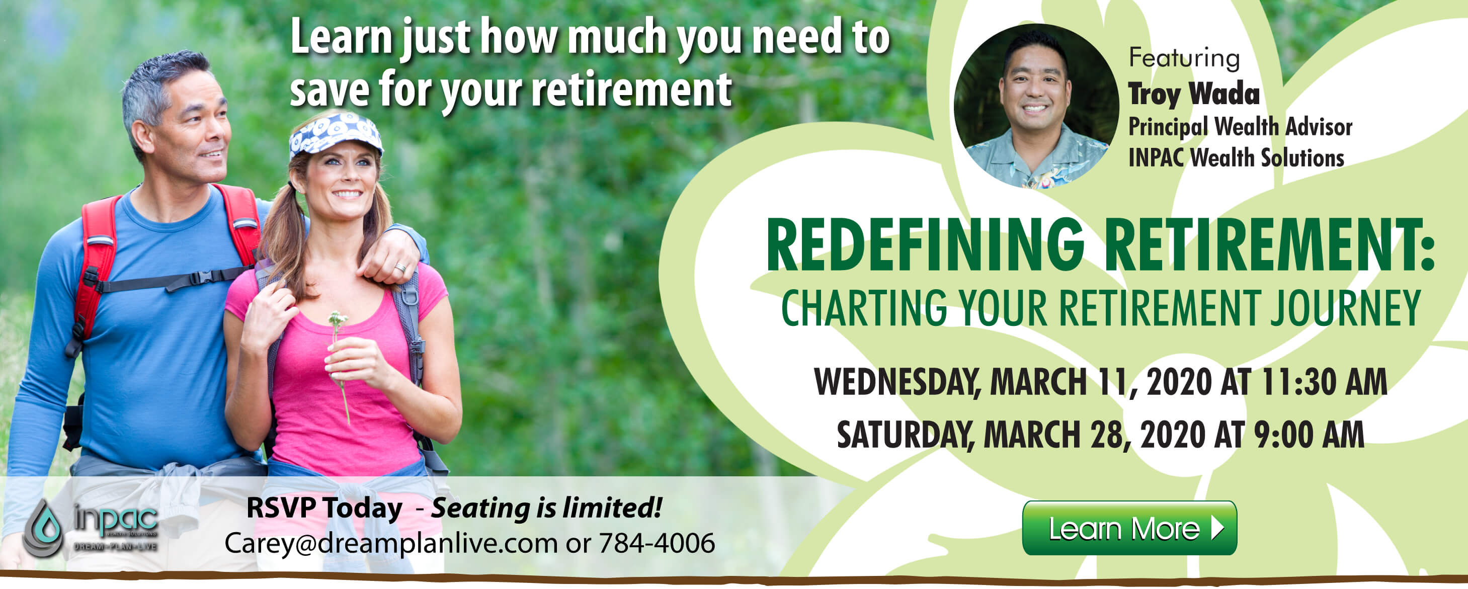 Redefining Retirement: Charting Your Retirement Journey.  RSVP Today!