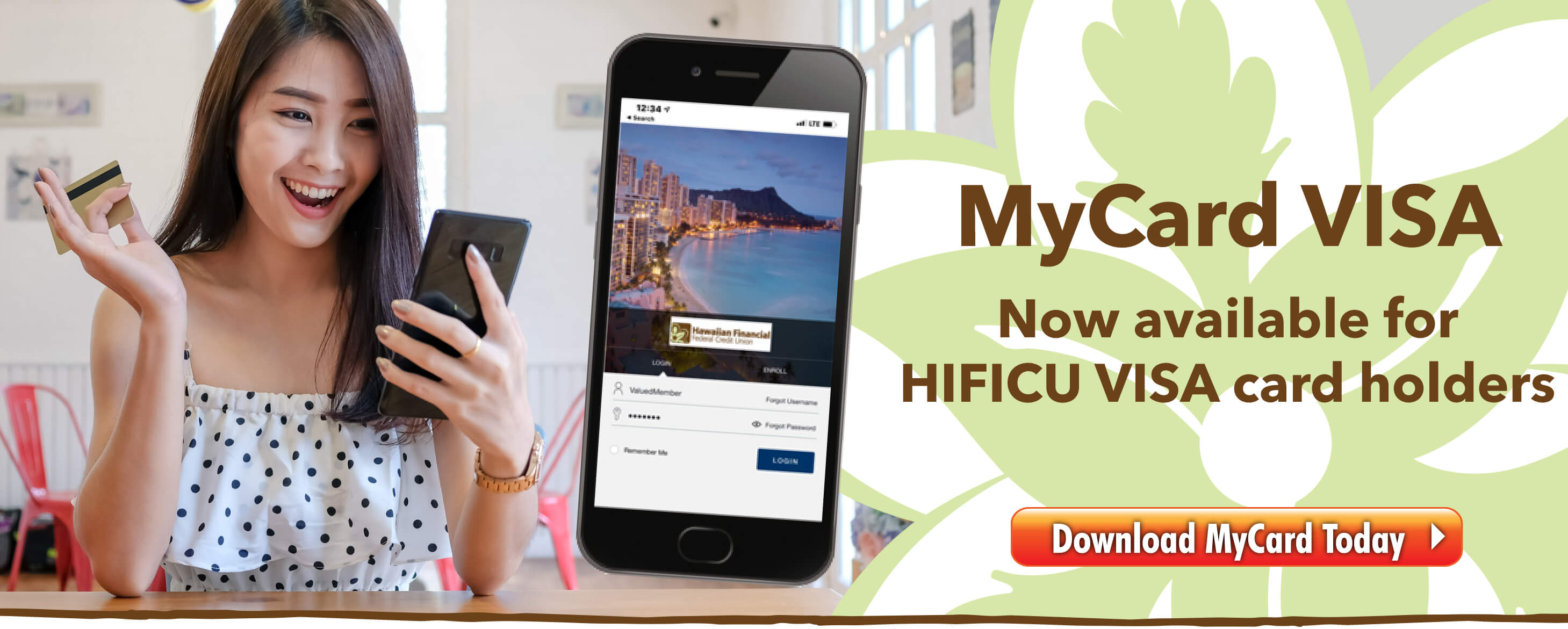 MyCard VISA app is now available for HIFICU VISA Card Holders.