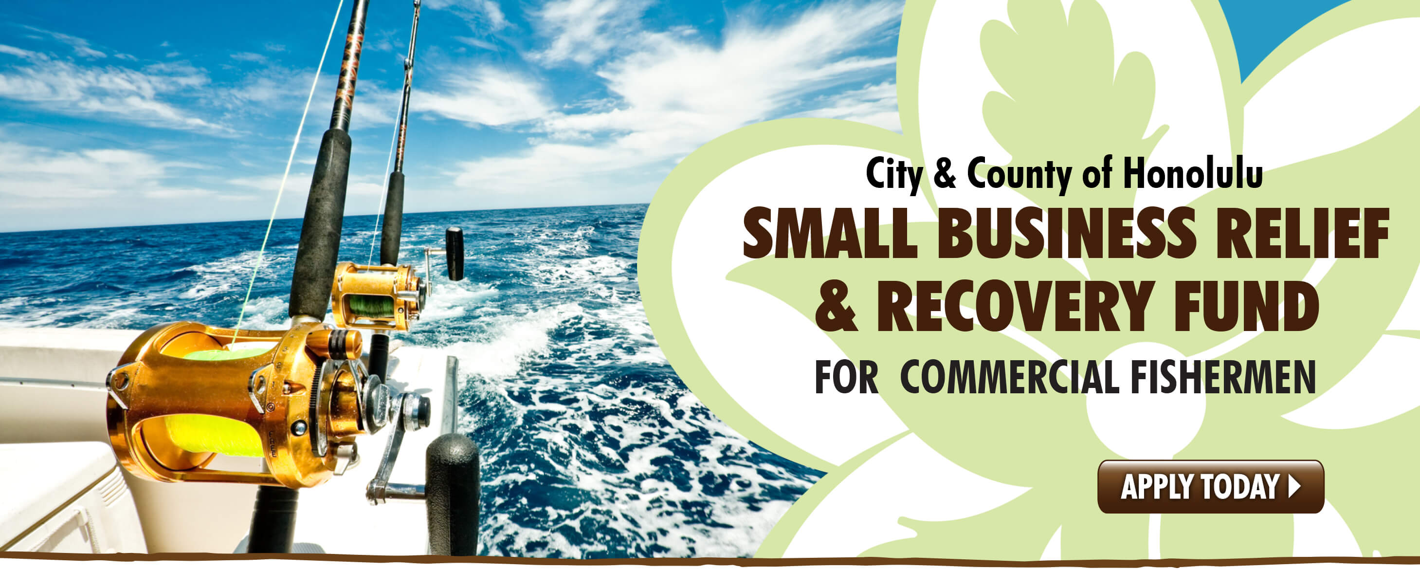 Small Business Relief & Recovery Fund for Commercial Fishermen.  Apply today!