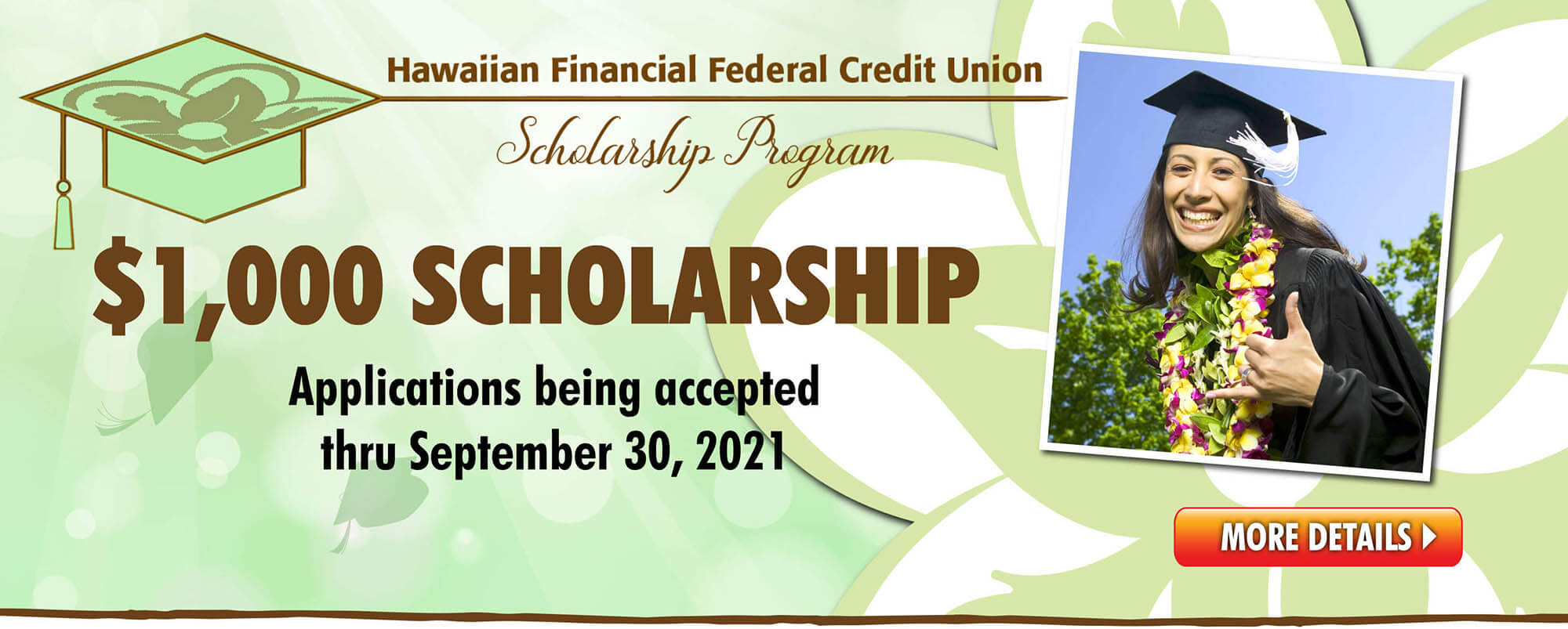 HIFICU Scholarship applications being accepted thru September 30, 2021